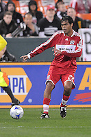 Chicago Fire defender William  Conde (22)  Chicago Fire tied  DC United 1-1 at  RFK Stadium, Saturday March 28, 2009.