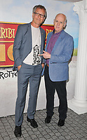 "Martin Brown and Terry Deary at the ""Horrible Histories: The Movie - Rotten Romans"" world film premiere, Odeon Luxe Leicester Square, Leicester Square, London, England, UK, on Sunday 07th July 2019.<br /> CAP/CAN<br /> ©CAN/Capital Pictures"