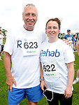 Eddie and Elaine Mulhearn who took part in the REHAB 10k run organized by St Colmcilles GAA club. Photo: Colin Bell/pressphotos.ie