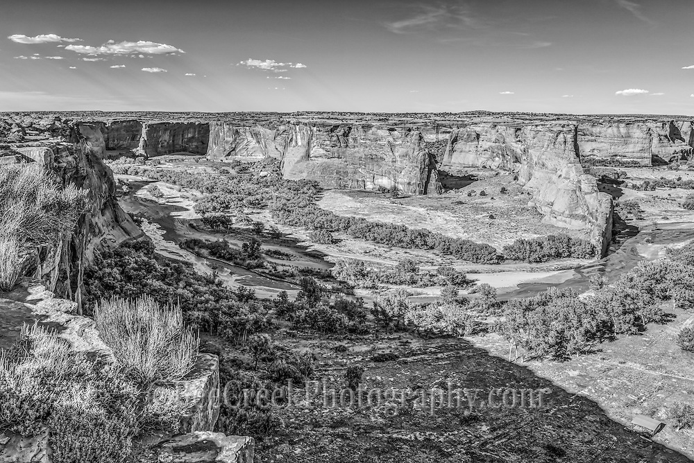 This is an image of the Canyon de Chelly that we created as a black and white.  I thought he BW gave a lot of texture and interest to this landscape image.