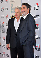 "LOS ANGELES, CA. November 10, 2018: Michael Douglas & Chuck Lorre at the AFI Fest 2018 world premiere of ""The Kominsky Method"" at the TCL Chinese Theatre.<br /> Picture: Paul Smith/Featureflash"