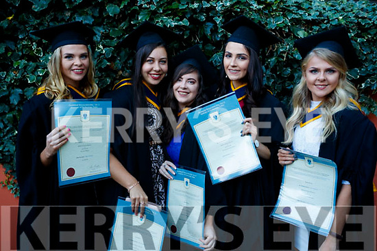 Thomasena Stout and Amy Ross (West Cork) with Marie O'Carroll, Niamh O'Sullivan and Rachel Patton (all Tralee), who graduated in General Nursing from IT, Tralee on Friday morning last, at the Brandon Conference Centre, Tralee.