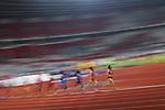 Ambience shot, €Yuka Hori (JPN), <br /> AUGUST 25, 2018 - Athletics : Women's 10000m Final at Gelora Bung Karno Main Stadium during the 2018 Jakarta Palembang Asian Games in Jakarta, Indonesia. <br /> (Photo by MATSUO.K/AFLO SPORT)