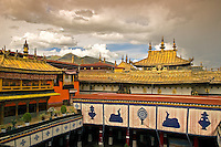 The Jokhang Temple in Lhasa, Tibet was built to house an image of Buddha Mikyöba (Akshobhya) brought to Tibet by Nepali princess, Bhrikuti. Although very little remains of the original seventh century structure, the Jokhang is the holiest of all holy places in Tibet