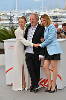 "CANNES, FRANCE. May 23, 2019: Sara Forestier, Arnaud Desplechin & Lea Seydoux at the photocall for ""Oh Mercy!"" at the 72nd Festival de Cannes.<br /> Picture: Paul Smith / Featureflash"