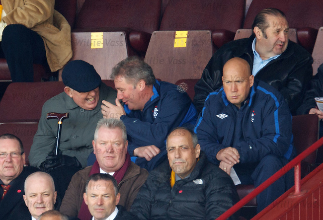 Ally McCoist and Kenny McDowall in the stand cracking jokes
