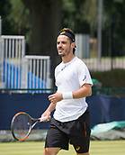June 14th 2017, Nottingham, England; ATP Aegon Nottingham Open Tennis Tournament day 5;  Thomas Fabbiano of Italy who  beat Yuki Bhambri of India in two sets.