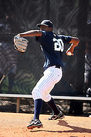 March 17th 2008:  Jairo Heredia of the New York Yankees minor league system during Spring Training at Legends Field Complex in Tampa, FL.  Photo by:  Mike Janes/Four Seam Images