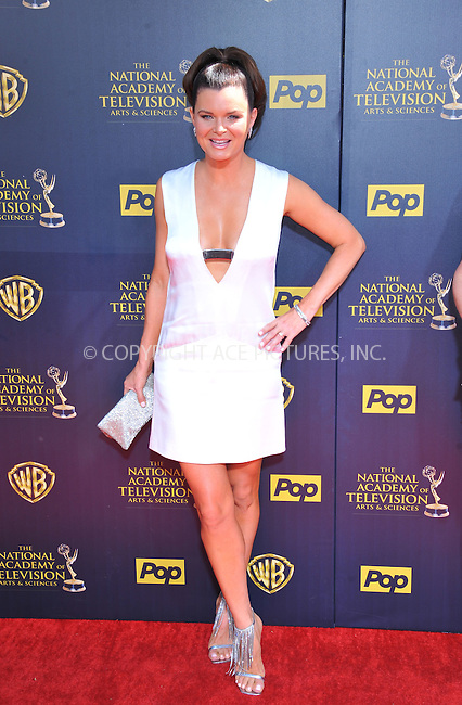 WWW.ACEPIXS.COM<br /> <br /> April 26 2015, LA<br /> <br /> Heather Tom arriving at The 42nd Annual Daytime Emmy Awards at Warner Bros. Studios on April 26, 2015 in Burbank, California.<br /> <br /> By Line: Peter West/ACE Pictures<br /> <br /> <br /> ACE Pictures, Inc.<br /> tel: 646 769 0430<br /> Email: info@acepixs.com<br /> www.acepixs.com