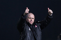Jim Bentley manager of Morecambe after his teams win during the Sky Bet League 2 match between Wycombe Wanderers and Morecambe at Adams Park, High Wycombe, England on 2 January 2016. Photo by Andy Rowland / PRiME Media Images