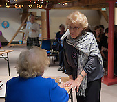 "Denise Robertson, writer and broadcaster, talking with Jenny Ellis, Leila Berg's daughter, at an evening celebrating the work of Leila Berg and the official opening of her archive at Seven Stories in Newcastle, 19th September 2012.  Denise was one of the writers whom Leila engaged to write a ""Nippers"" story (""The New Bath"") for kids when Leila was editor at Methuen publishers."