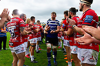 Dave Attwood leads the Bath Rugby team off the field. Gallagher Premiership match, between Bath Rugby and Gloucester Rugby on September 8, 2018 at the Recreation Ground in Bath, England. Photo by: Patrick Khachfe / Onside Images