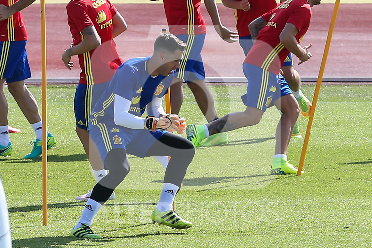 Spanish Adrian San Mateo during the second training of the concentration of Spanish football team at Ciudad del Futbol de Las Rozas before the qualifying for the Russia world cup in 2017 August 30, 2016. (ALTERPHOTOS/Rodrigo Jimenez)