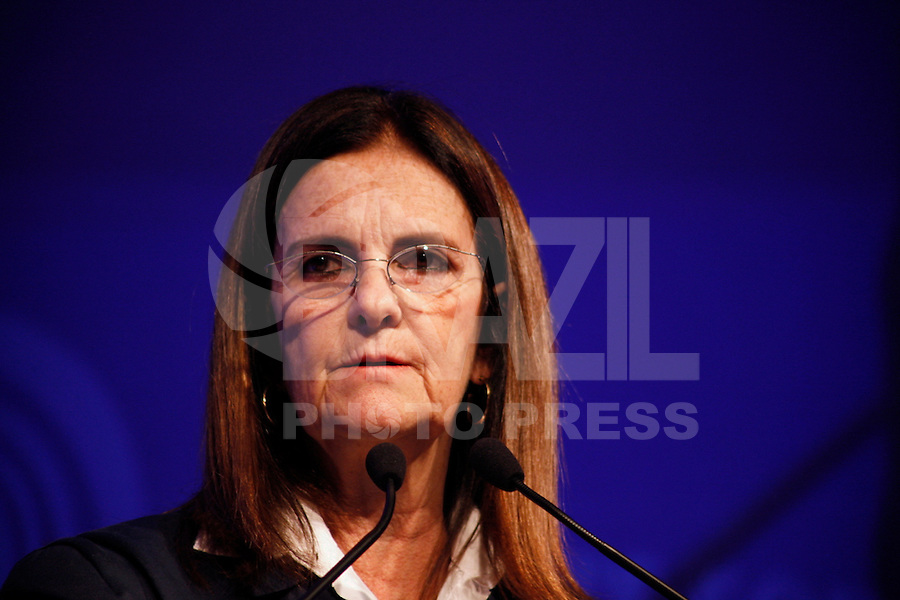SÃO PAULO, 04 DE JUNHO DE 2012.WOMEN'S FÓRUM BRASIL. Maria das Graças Foster, Presidente  Petrobras, durante palestra na WOMEN'S Fórum Brazil. FOTO: ADRIANA SPACA - BRAZIL PHOTO PRESS