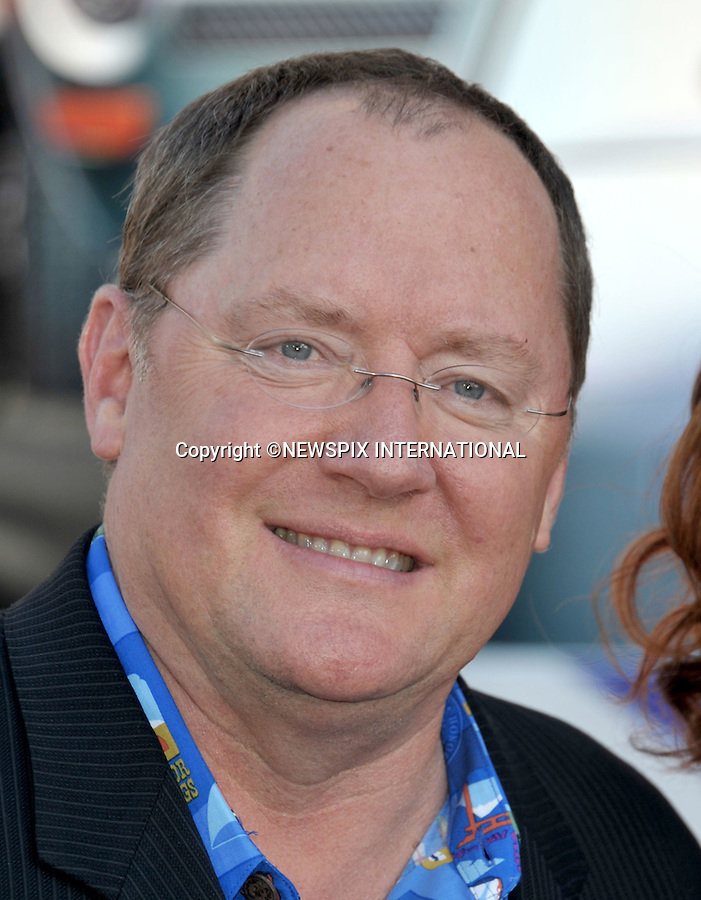 """JOHN LASSETER.attends the World Premiere of Disney Pixar's """"Cars 2"""" at the El Capitan Theatre on June 18, 2011 in Hollywood, California_18/06/201.Mandatory Photo Credit: ©Crosby/Newspix International. .**ALL FEES PAYABLE TO: """"NEWSPIX INTERNATIONAL""""**..PHOTO CREDIT MANDATORY!!: NEWSPIX INTERNATIONAL(Failure to credit will incur a surcharge of 100% of reproduction fees).IMMEDIATE CONFIRMATION OF USAGE REQUIRED:.Newspix International, 31 Chinnery Hill, Bishop's Stortford, ENGLAND CM23 3PS.Tel:+441279 324672  ; Fax: +441279656877.Mobile:  0777568 1153.e-mail: info@newspixinternational.co.uk"""