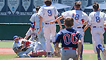 Reno pitcher Christian Chamberlain is tackled after winning the NIAA Division I Northern Region Baseball Championship between the Galena Grizzlies and the Reno Huskies played on Saturday, May 14, 2016 at Peccole Park in Reno, Nevada.