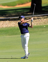Brad Kennedy (AUS) in action on the 1st during Round 2 Matchplay of the ISPS Handa World Super 6 Perth at Lake Karrinyup Country Club on the Sunday 11th February 2018.<br /> Picture:  Thos Caffrey / www.golffile.ie<br /> <br /> All photo usage must carry mandatory copyright credit (&copy; Golffile | Thos Caffrey)