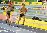Photo: Paul Greenwood/Richard Lane Photography. Aviva World Trials & UK Championships. 14/02/2010. .Karen Harewood and Danielle Christmas in the Womens 800m.