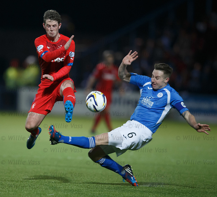 David Templeton jumps over the tackle of Chris Higgins