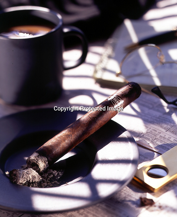 A morning cigar with your coffee