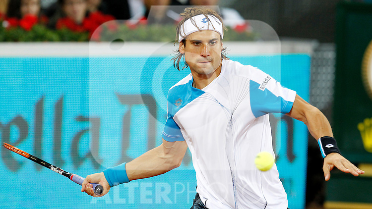 David Ferrer during Tennis Madrid Open match, May 15,2010..(ALTERPHOTOS/Acero)