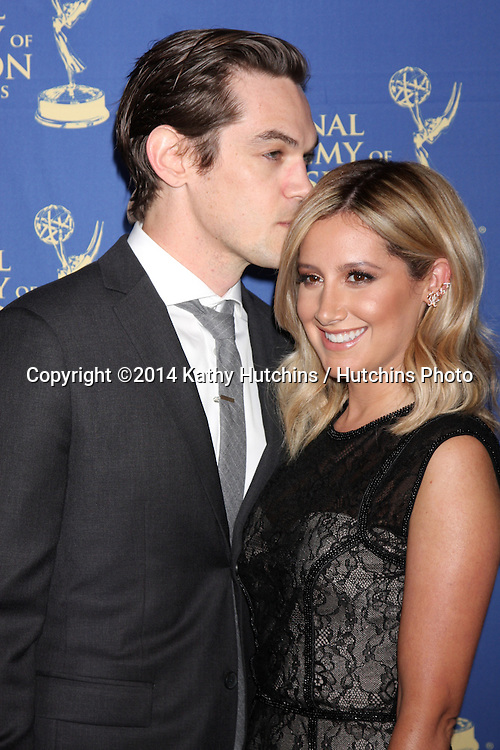 LOS ANGELES - JUN 20:  Christopher French, Ashley Tisdale at the 2014 Creative Daytime Emmy Awards at the The Westin Bonaventure on June 20, 2014 in Los Angeles, CA