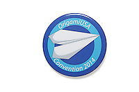 OrigamiUSA Convention Pin issued to all attendees at the annual convention in New York.