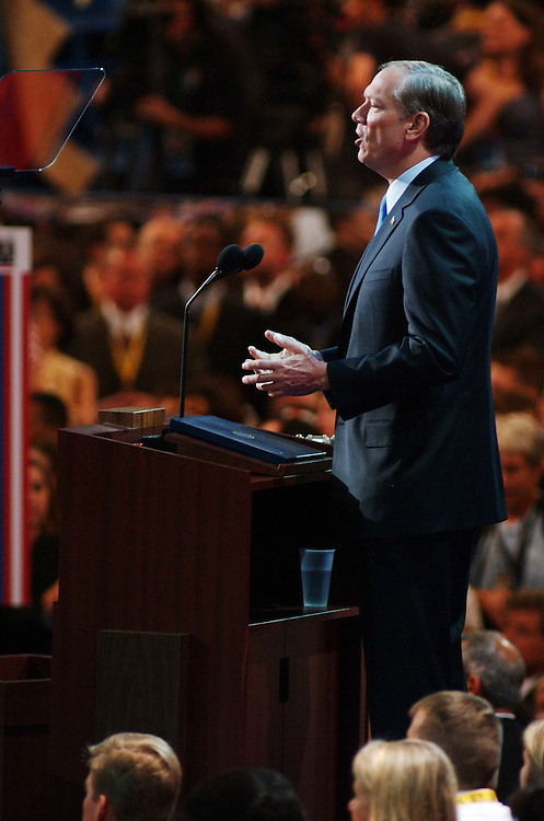 9/02/04.2004 REPUBLICAN NATIONAL CONVENTION--New York Gov. George E. Pataki addresses the convention..CONGRESSIONAL QUARTERLY PHOTO BY SCOTT J. FERRELL