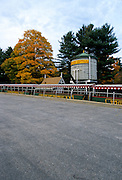 White Mountain Central Railroad train which is at Clark s Trading Post in Lincoln, New Hampshire USA which is located in New England