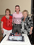 Gary Reilly celebrating his 21st birthday in The Thatch with grandmothers Marie Reilly and Benny Byrne. Photo:Colin Bell/pressphotos.ie