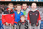 Boki Nikic, Tom Murnane, Liam O'Sullivan, Conor Lucey and Ben Crowley, pictured at Croke Park on Sunday for the Kenmare vs Ballinasloe final.