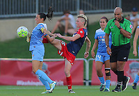 Boyds, MD - Saturday July 09, 2016: Vanessa DiBernardo, Joanna Lohman, Brandon Artis during a regular season National Women's Soccer League (NWSL) match between the Washington Spirit and the Chicago Red Stars at Maureen Hendricks Field, Maryland SoccerPlex.