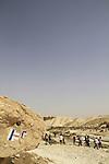 Israel, Negev, Israel trail in Nahal Akev