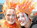 Ilka Bavorzan and Michi Hahn from Germany pictured at the samba parade. Photo: Colin Bell/pressphotos.ie