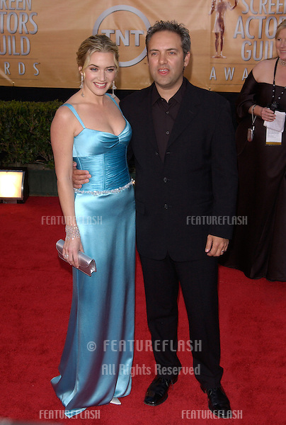 Feb 06, 2005: Los Angeles, CA: KATE WINSLET & SAM MENDES at the 11th Annual Screen Actors Guild Awards at the Shrine Auditorium.