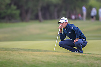 Nick Taylor (CAN) looks over his putt on 9 during Round 2 of the Valero Texas Open, AT&T Oaks Course, TPC San Antonio, San Antonio, Texas, USA. 4/20/2018.<br /> Picture: Golffile | Ken Murray<br /> <br /> <br /> All photo usage must carry mandatory copyright credit (© Golffile | Ken Murray)