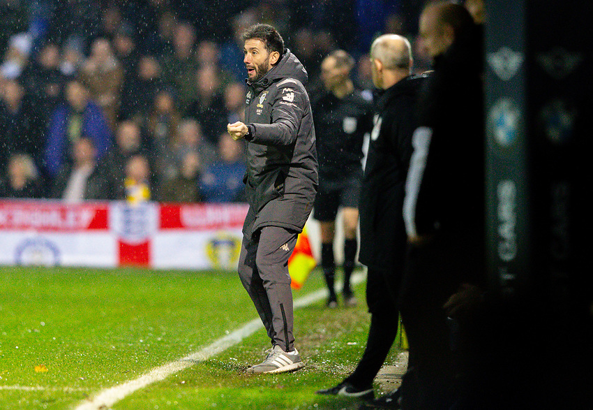 Leeds United's first team coach Carlos Corberan shouts instructions to his team from the technical area<br /> <br /> Photographer Alex Dodd/CameraSport<br /> <br /> The EFL Sky Bet Championship - 191123 Luton Town v Leeds United - Saturday 23rd November 2019 - Kenilworth Road - Luton<br /> <br /> World Copyright © 2019 CameraSport. All rights reserved. 43 Linden Ave. Countesthorpe. Leicester. England. LE8 5PG - Tel: +44 (0) 116 277 4147 - admin@camerasport.com - www.camerasport.com