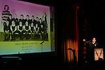 Tony Kushner during 2015 Vineyard Theatre Gala presentation honoring Margo Lion at Edison Ballroom on March 30, 2015 in New York City.
