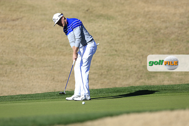 Jonas Blixt (SWE) takes his putt on the 1st green during Saturday's Round 3 of the 2017 CareerBuilder Challenge held at PGA West, La Quinta, Palm Springs, California, USA.<br /> 21st January 2017.<br /> Picture: Eoin Clarke | Golffile<br /> <br /> <br /> All photos usage must carry mandatory copyright credit (&copy; Golffile | Eoin Clarke)