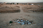 ISRAEL El-Arakib, Negev desert<br /> Plastic dump outside the village. The unrecognized Bedouin village of El-Arakib, in Israel's southern Negev desert, is at the center of land dispute between Bedouin residents and Israel's government. Its residents were allowed to reside in the cemetery compound of the village, and as of October 8, 2013 structures outside the compound were demolished by authorities for the 55th time already in recent years.