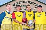 Teams from all over Kerry are invited to come to the first ever St Stephen's day soccer blitz in Cahersiveen this Christmas. The event is organised by the South Kerry Sports Centre to raise funds for Over the Water rowing club. .L-R Ger O'Sullil9van, Batty Moriarty, Maurice Fitzgerald and DJ O'Connor