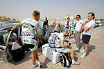 Project IT4i riders prepare before the start of the 1st Stage of the 2012 Tour of Qatar running from Umm Slal Mohammed to Doha Golf Club, Doha, Qatar, 5th February 2012 (Photo Eoin Clarke/Newsfile)