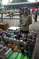 A man sales pirated (duplicate of branded cosmetics) at a foot path in Kolkata, West Bengal,  India  7/18/2007.  Arindam Mukherjee/Landov
