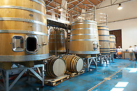 wooden vats Bodegas Margon , DO Tierra de Leon , Pajares de los Oteros spain castile and leon
