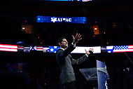 Washington, DC - March 27, 2017: Speaker of the House of Representatives Paul Ryan acknowledges applause as he enters the stage to address attendees of the AIPAC Policy Conference March 27, 2017 at the Verizon Center in the District of Columbia. (Photo by Don Baxter/Media Images International)