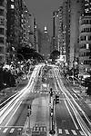 Avenida São João vista a partir do Minhocão - Elevado Presidente Arthur Costa e Silva, São Paulo - SP, 01/2016.