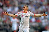 FUSSBALL   1. BUNDESLIGA  SAISON 2011/2012   33. Spieltag FC Bayern Muenchen - VfB Stuttgart       28.04.2012 Bastian Schweinsteiger (FC Bayern Muenchen)