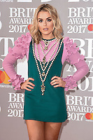 Tallia Storm at the 2017 Brit Awards at the O2 Arena in London, UK. <br /> 22 February  2017<br /> Picture: Steve Vas/Featureflash/SilverHub 0208 004 5359 sales@silverhubmedia.com