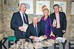 "Book Launch : Paddy Fitzgibbon, Listowel signing his new book ""The Second Mister"" at St John's Arts Centre, Listowel on Saturday night last. L-R Weeshie Fogarty, who launched the book, Paddy & Carmel Fitzgibbon & Billy Keane."