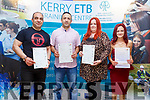 Saeidkazemi Bayghra, Ergin Kuccuk, Louise Cremins and Catriona O'Connell receiving their Certificates at the ETB Awards in the Rose Hotel on Thursday evening.